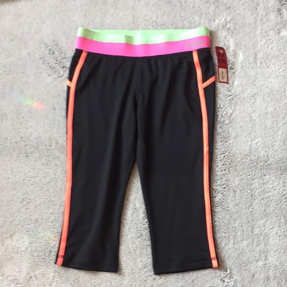 4dbe957335b57 Fila Bottoms | Nwt Girls Color Block Capri Leggings Size 14 | Poshmark